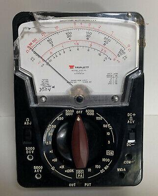 Triplett Model 630-pl Multimeter Works But Case Broken Fast Shipping