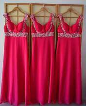 Hot pink bridesmaid/formal dresses Waterford Logan Area Preview