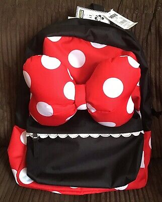 Vans x Disney Minnie Mouse Bow Backpack Rucksack Bag Red Black BNWT