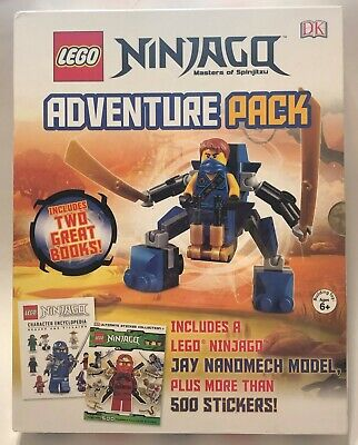 NEW Lego NINJAGO Masters of Spinjitzu ADVENTURE PACK 2 Books Figure 500 Stickers