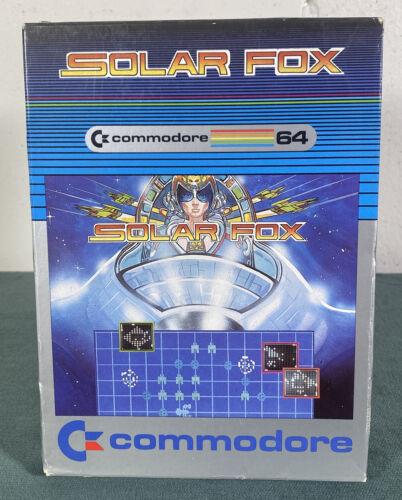 Computer Games - Commodore 64 Solar Fox Computer Video Game w/ Manual & Box