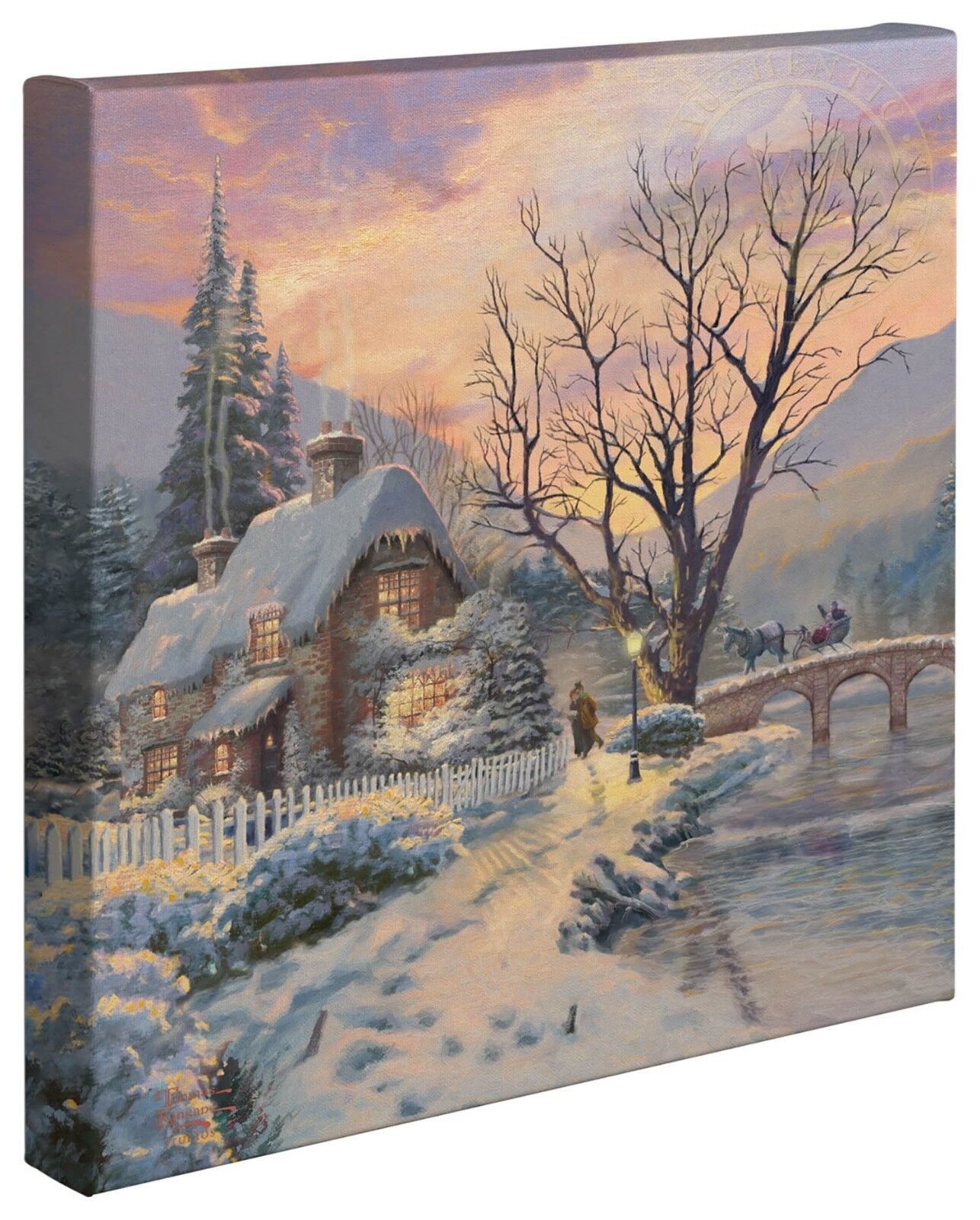 Thomas Kinkade Holiday Collection 14 x 14 Gallery Wrapped Canvas (Choice of 4)
