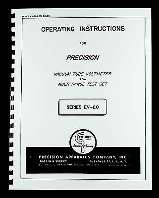 Precision Apparatus Ev-20 Vacuum Tube Multi-meter Manual