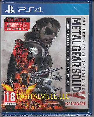 Metal Gear Solid V Definitive Experience PS4 MGS V Brand New Fcatory Sealed