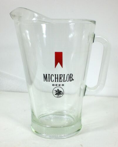 Vintage MICHELOB Large Beer Glass Pitcher Drinkware Breweriana Pouring