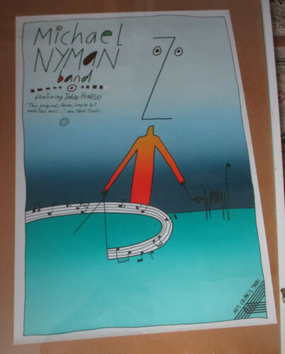 MICHAEL NYMAN BAND CMN OFFICIAL TOUR POSTER  RARE MUSIC COLLECTABLE V.G.C