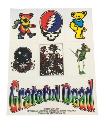 Grateful Dead 7 Sticker Set Deadhead Bear Logo Stickers