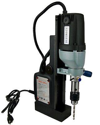 New Bluerock Tools Black Brm-35a-b Magnetic Drill - Typhoon Mag Drill Pres