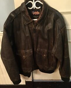 Vintage leather bomber jacket 3xl