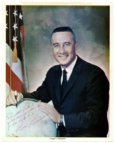 Gus Grissom - Photograph Signed - Inscribed to Gemini 3 Engineer - RRAuction COA