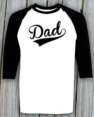Dad Baseball Shirt Fathers Day Christmas Birthday Gifts For Daddy Raglan T -
