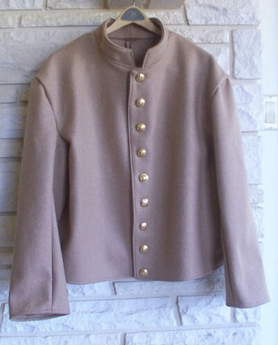 Confederate Butternut Shell Jacket,  Civil War, New