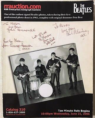 RR AUCTION CATALOG ENTERTAINMENT ART SPACE POP CULTURE HISTORICAL BEATLES COVER