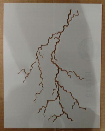 "Lightning Bolt Strike Storm 8.5"" x 11"" Custom Stencil FAST FREE SHIPPING"