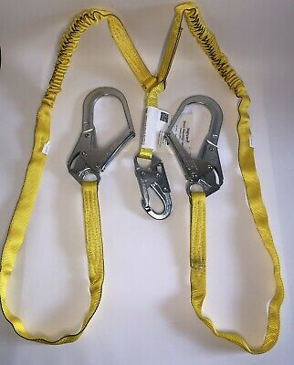 Miller 6 Manyard Shock-absorbing Safety Lanyard With 2 Large Locking Snap Hook