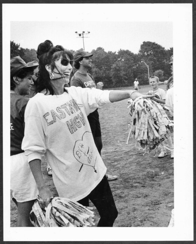 ~ Cher Original 1986 Candid Boston Herald Press Photo Cheerleader Outfit