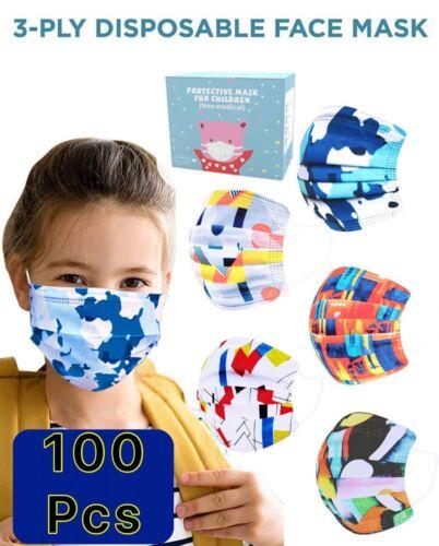 [100 PCS] Cartoon Kids Face Mask Toddler Child Masks Disposal 3 lyers US Seller