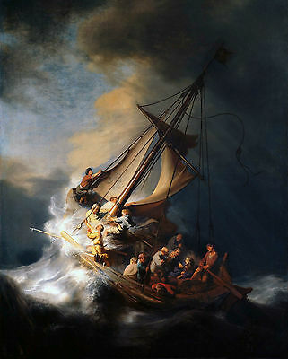 "Wall Art Rembrandt's ""CHRIST IN THE STORM"" (11"" by 14"" PRINT)"