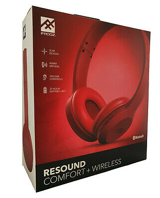 iFrogz Wireless Bluetooth Headphones With Built in Microphone   Red