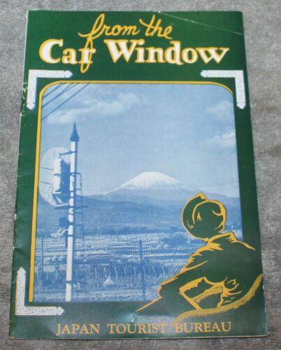 "VINTAGE JAPAN RAILROAD BROCHURE ""FROM THE CAR WINDOW"" 1936 TOKYO TO KOBE"