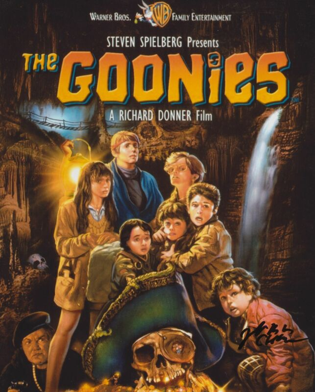 JEFF COHEN SIGNED THE GOONIES 8X10 PHOTO