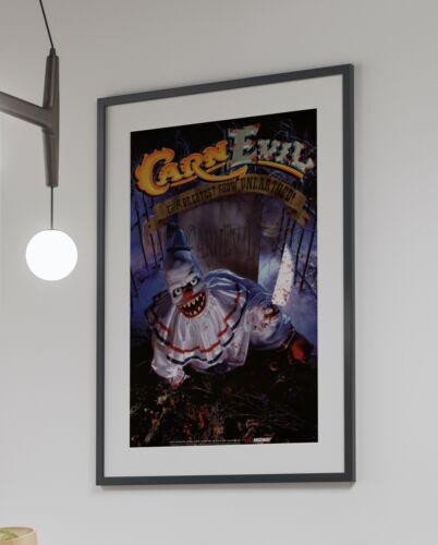 CarnEvil 1998 Arcade Retro Video Game Poster 24 x 36 inches
