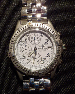 """""""Breitling"""" Stainless Steel Watch"""