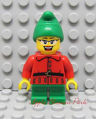 Neu Lego Rot Weihnachten Mädchen Elf - Weiblich Weihnachtsmann Helfer Minifig W ()