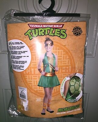 Girls Teenage Mutant Ninja Turtles Halloween Costume Michelangelo Tween S 0-2