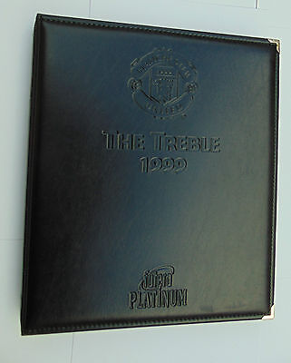 FUTERA  Manchester United TREBLE 1999 binder , Cards & Centre Card +Ticket Stubs
