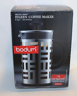 Bodum Eileen French Press Coffee Maker 34Oz Stainless Chrome New  Offering