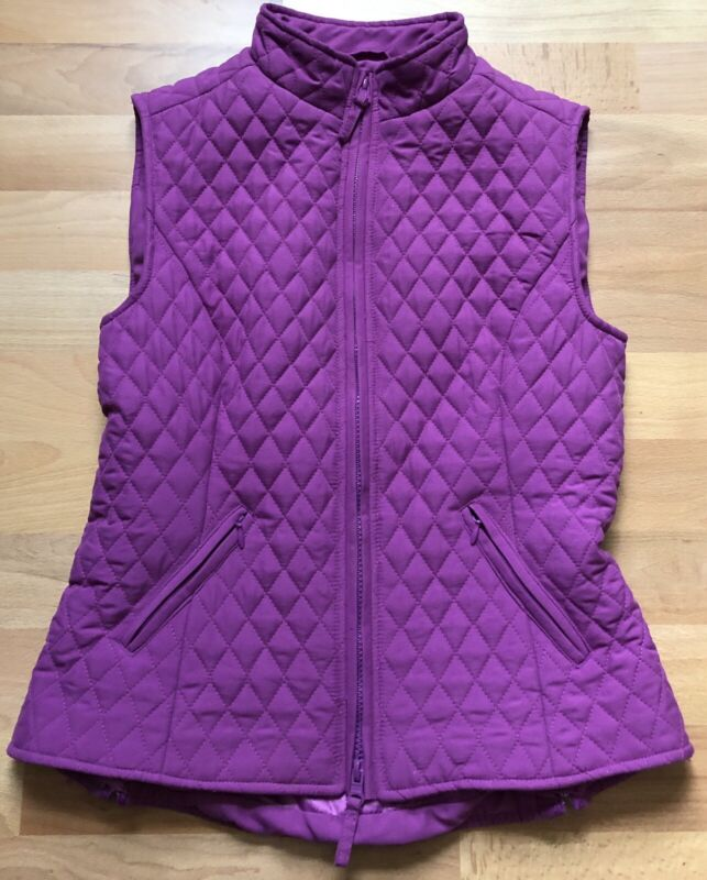 Shires Quilted Equestrian Riding Vest Raspberry Purple Girls XXS