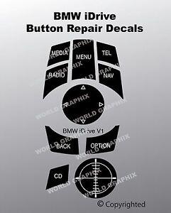 BMW iDrive Button Repair Decal Sticker Kit Fits 9231116 033625107 Buttons