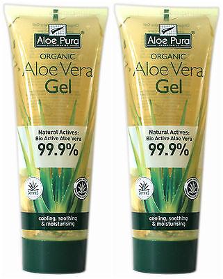 2 Packs of Aloe Pura Skin Treatment - Aloe Vera Organic Gel - 100ml