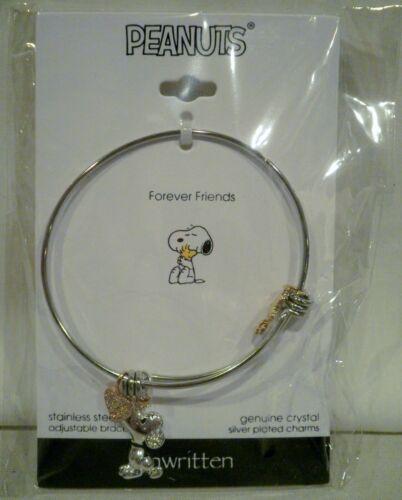 Unwritten Peanuts Snoopy Woodstock Forever Friends Stainless Steel Bracelet