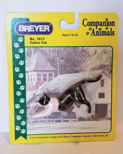 Breyer 1517 Calico Stretching Cat Companion Animal Traditional Model Retired