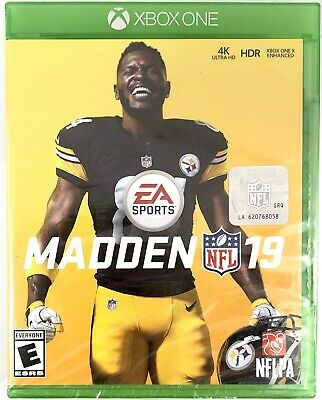 Madden 19 Xbox One Video Game Football NFL New Sealed EA Sports 4K Ultra HD HDR