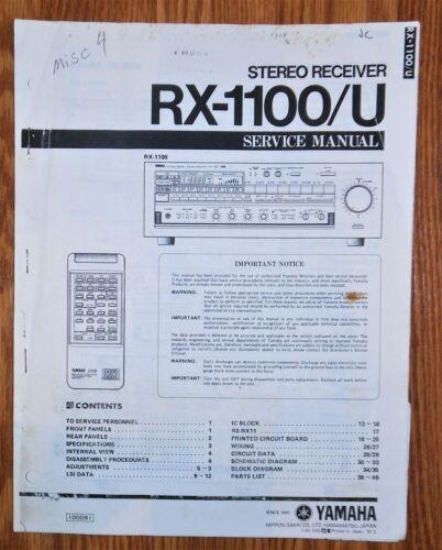 **ORIGINAL** Yamaha RX-1100/U Receiver Service Manual