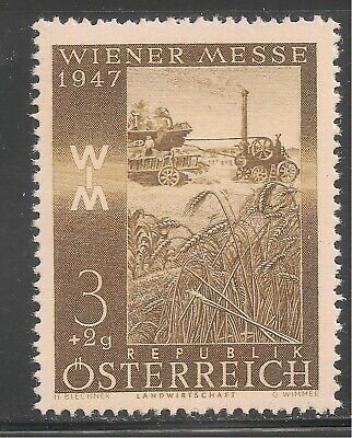 Austria #B199 (SP128) VF MNH - 1947 3g+2g Reaping Wheat / Steam Engine , used for sale  Shipping to India