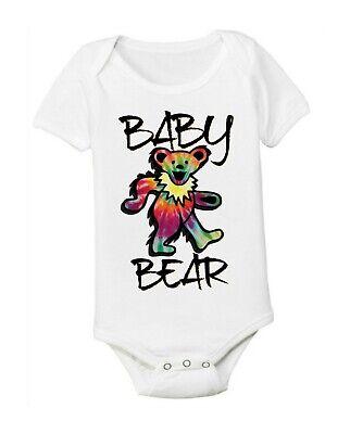 Grateful Dead Head Baby Infant ONESIE ® Tie Dye Bodysuit Hippy Baby Dance Bear -