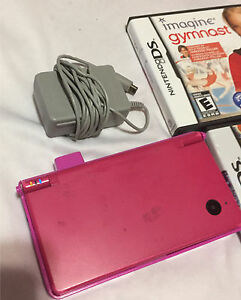 Pink Nintendo DSI  with charger, case four games for only 50$ London Ontario image 4