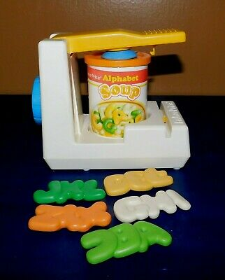 Vintage Fisher Price Fun with Food Can Opener with Alphabet Soup