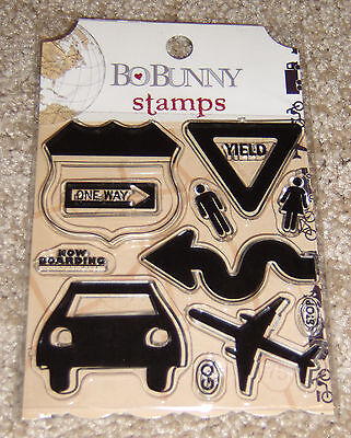 Bo Bunny Clear Stamps ~ Detour Collection (Bo Bunny Clear Stamps)
