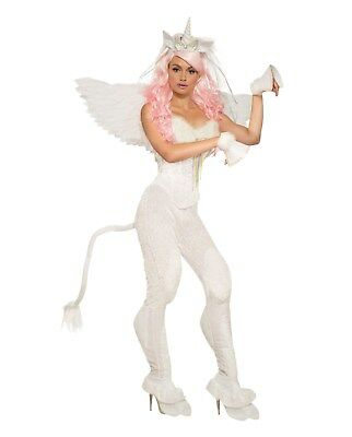 Adult White Unicorn Trousers and Tail Fancy Dress One Size Costume - Unicorn Tail Costume