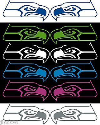 Seattle Seahawks  2 Decals Left And Right 4 X9
