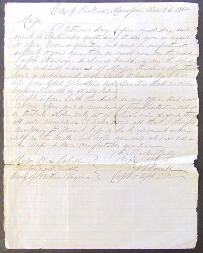 VIRGINIA CONFEDERATE ALS 1861 CAP