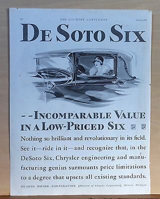 1928 magazine ad for DeSoto Six - Incomparable value, women drivers