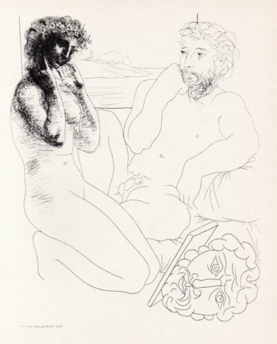 Pablo Picasso, Sculptor and Model Looking at Herself in a Mirror, Vollard Suite