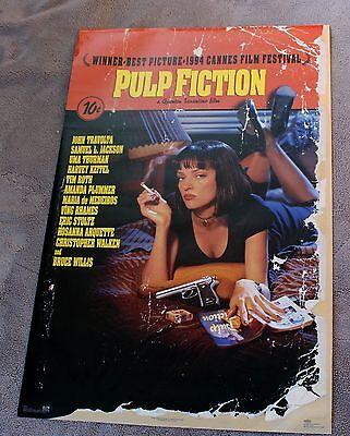 Pulp Fiction 1995 Tarantino John Travolta Thurman Samuel L  Jackson Poster Vgex