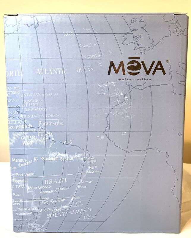 Satellite Mova Globe W/ Gold Lettering Rotating Motion